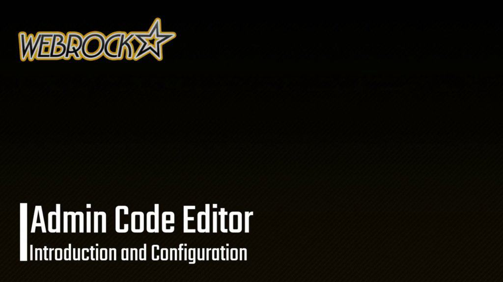 Admin Code Editor WordPress Plugin | Introduction and Configuration